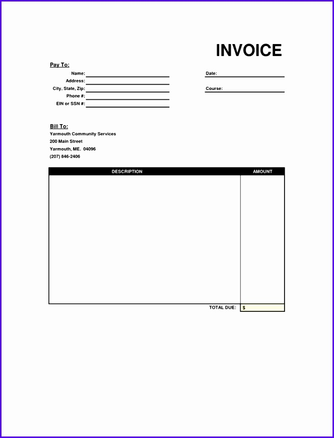 10 Free Invoice Template Uk Excel Exceltemplates Exceltemplates