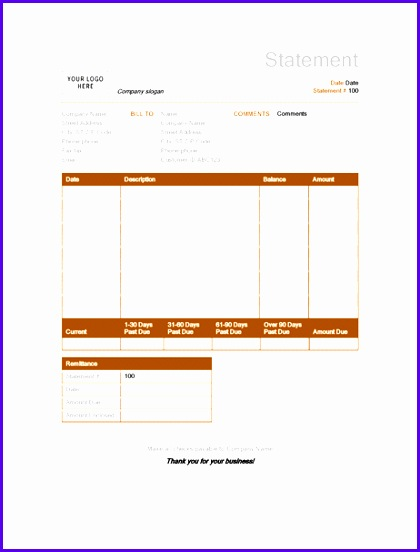 Billing statement Rust design 420552