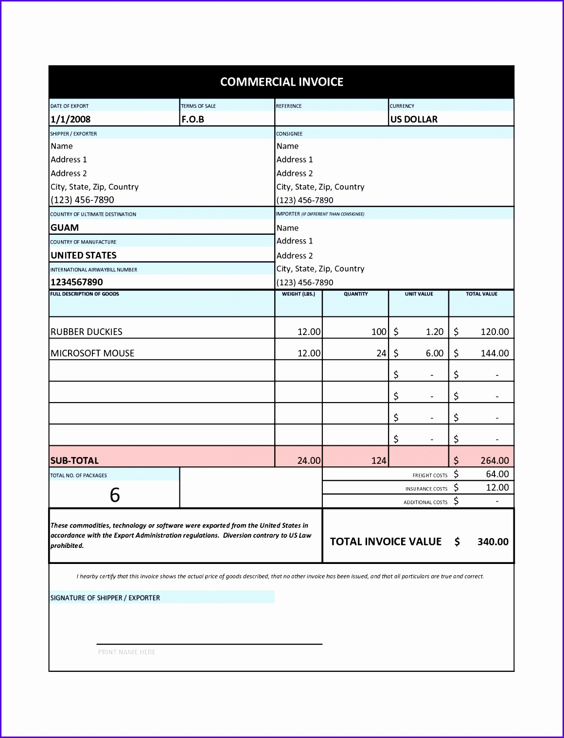 Invoice Sample Canada Tax 11601518