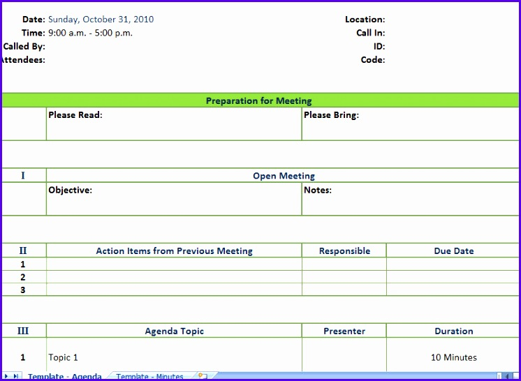 excel meeting schedule template 746546