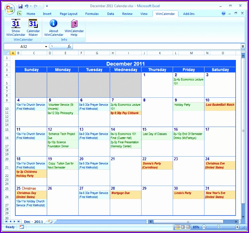 monthly calendar template excel Excel Check List Template 798747
