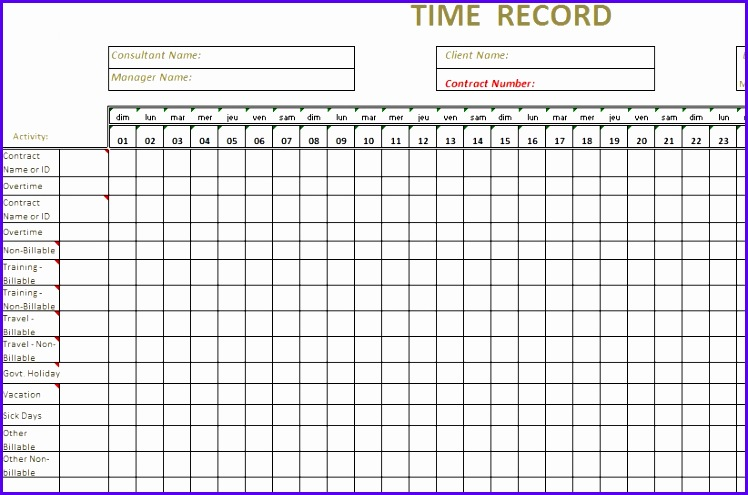 Monthly Timesheet Template Excel  Exceltemplates  Exceltemplates