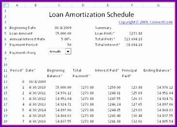 excel loan amortization schedule template 365262