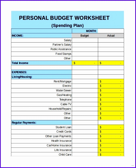 Personal bud template revolutionary photoshots weekly expenses worksheet 1 9 excel documents large730 546671