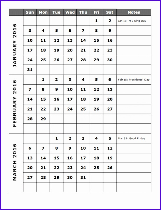 quarterly calendar templates 546710