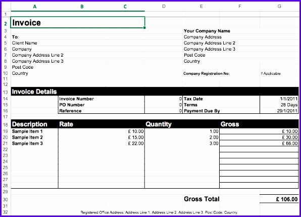 Invoice Template Excel Download Free Invoice Template Excel