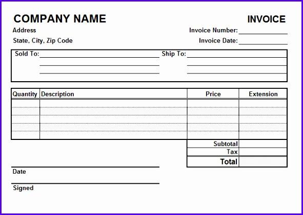 Quickbooks Invoice Template Excel 591421