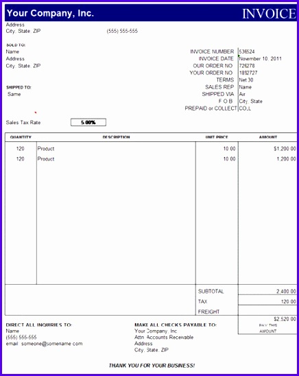 excel invoice templates 436548