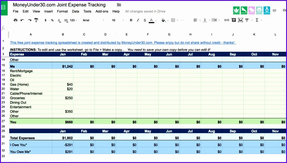 Examples Simple Excel Templates Nigci Beautiful A Simple Spreadsheet for Tracking D Expenses 1100619