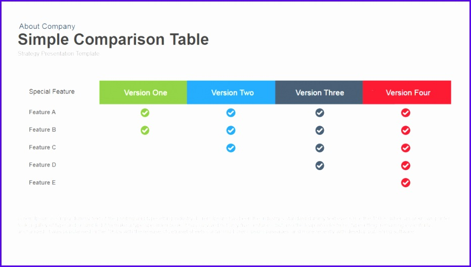 Examples Table Templates Excel atwff Best Of Simple Parison Table Powerpoint and Keynote Template 1024576