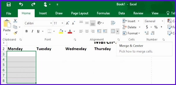 How to Make a Calendar Template in Excel Excel Calendar Template 3 670x321 609295