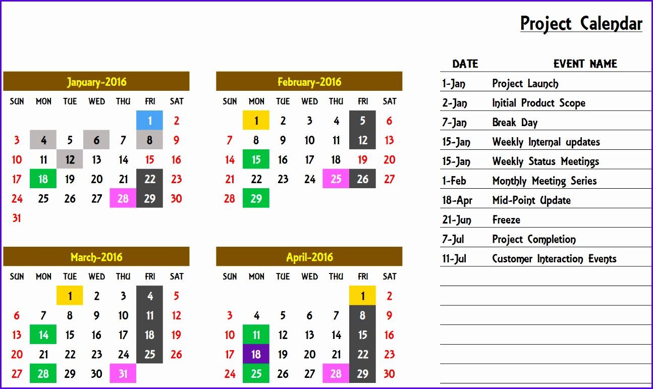 Excel Calendar Template Excel Calendar 2017 2018 Any Year 1294771