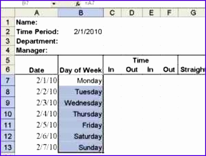 Examples Timesheet Excel Templates Ndcxp Unique Build A Simple Timesheet In Excel Techrepublic 770578