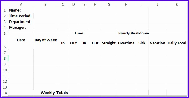 Examples Timesheet Excel Templates Sn2bo Lovely How to Create A Time Sheet Template In Excel 667341