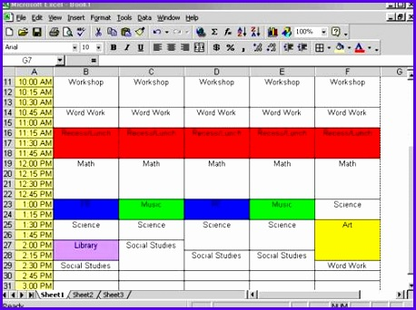 excel timetable 458342