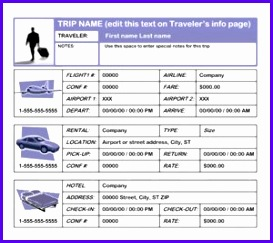 Business Travel Plan Template 273243