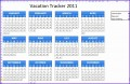 5  Vacation Calendar Template Excel