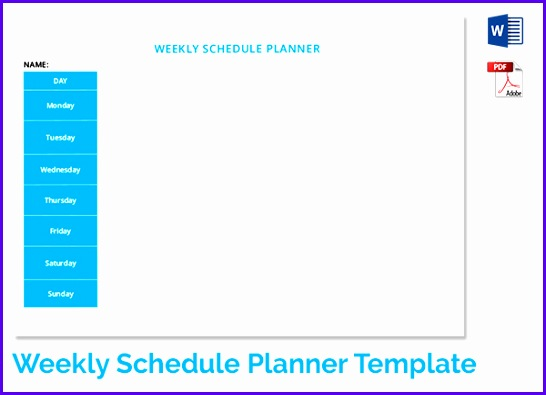 Examples Weekly Planner Template Excel F3rbd Fresh Weekly Schedule Template 19 Free Word Excel Pdf Download 600430