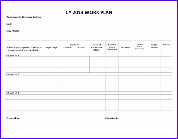 what is a work plan work division work plan template excel free 580453