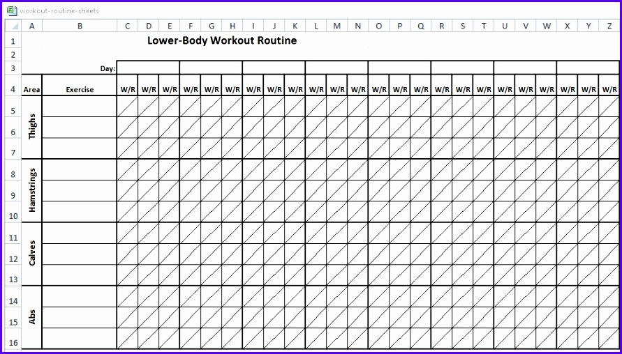 Examples Workout Excel Template Stphf New Workout Tracker Template Excel – Kukkoblock Templates 980553