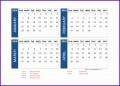 14 2018 Calendar Template Excel