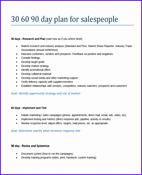 Sample 30 60 90 Plan Template Excel Hfuil Beautiful 30 60 90 Sales Plan Twentyeandi 600730