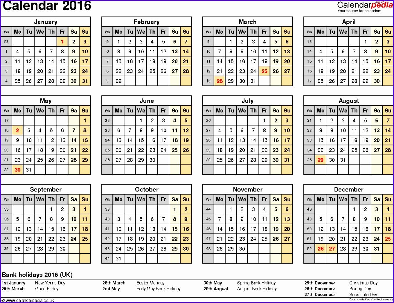 Sample Annual Calendar Template Excel Vozeh Elegant Excel Year Calendar Madrat 14921137