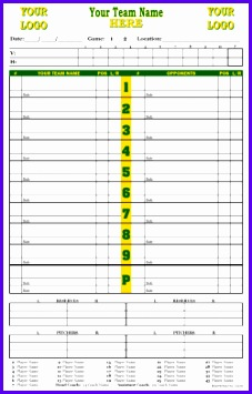Dugout Charts Baseball 227355