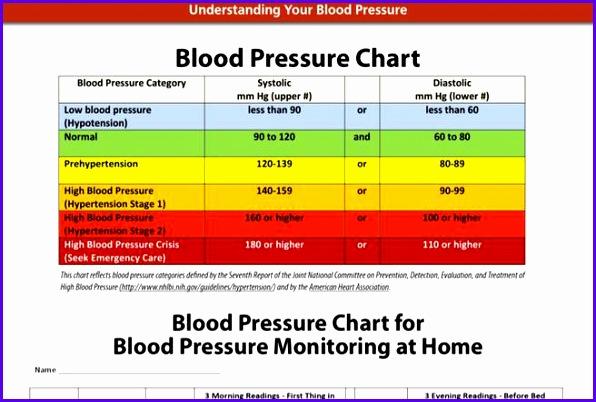 BP Chart · Blood Pressure Chart Templates 596402