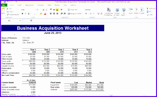 free business acquisition template for excel 1 580x355 527326