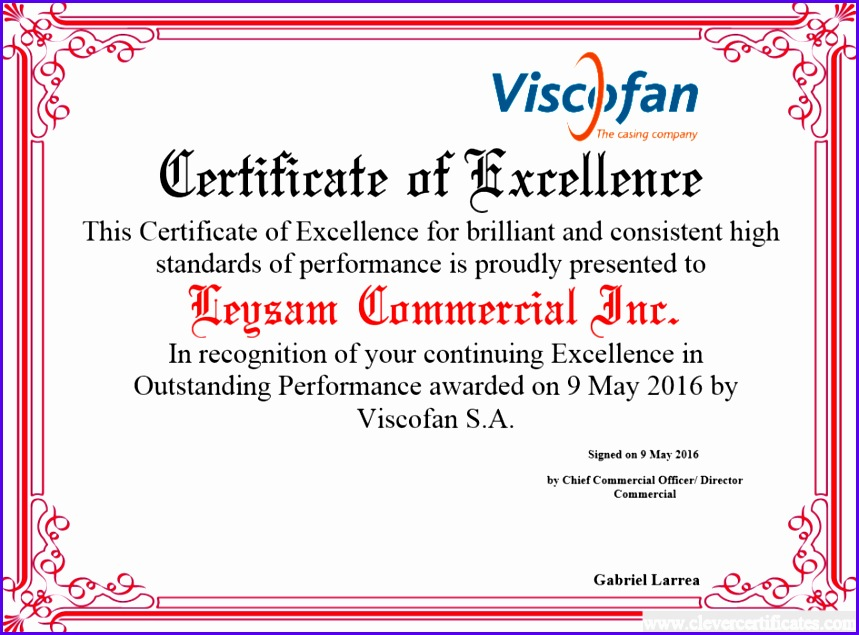 Certificate of Excellence FREE Certificate Templates for employees You can add text 859635