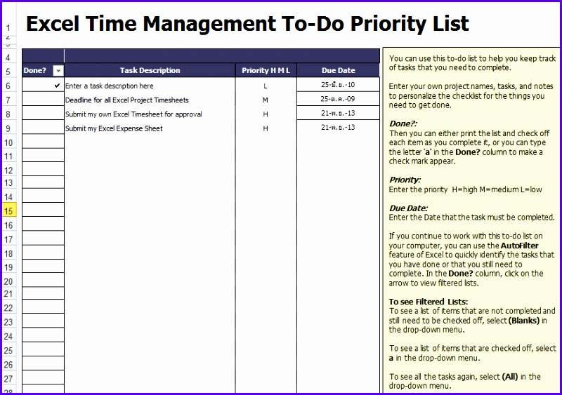 Sample Checklist Template In Excel Uxyhs Luxury To Do List Template