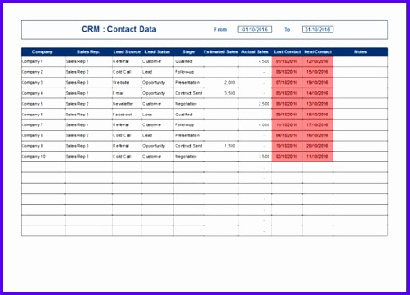 Crm Template 455327