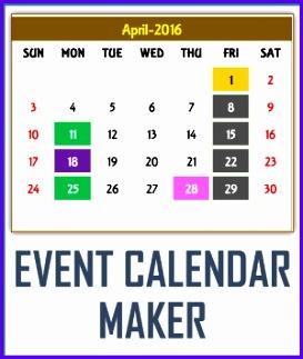 Sale Event Calendar Maker Excel Template 273323