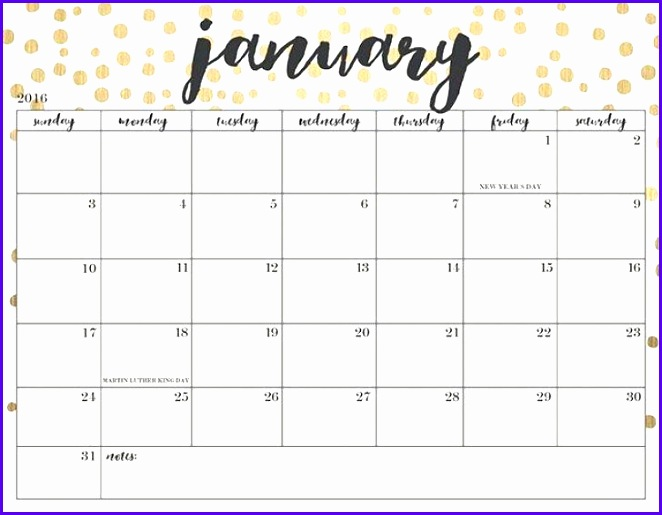 Sample Excel  Calendar Template Fkeea Inspirational January