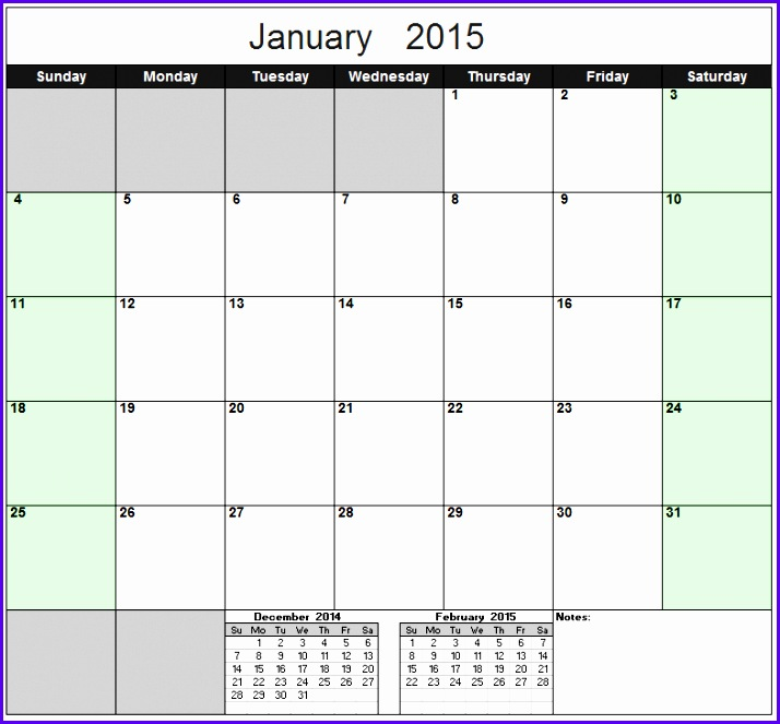 Free Excel Calendar Template Yearly & Monthly 2015 2016 2017 etc 714663