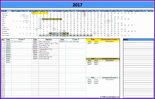10 Excel Calendars Templates Exceltemplates Exceltemplates