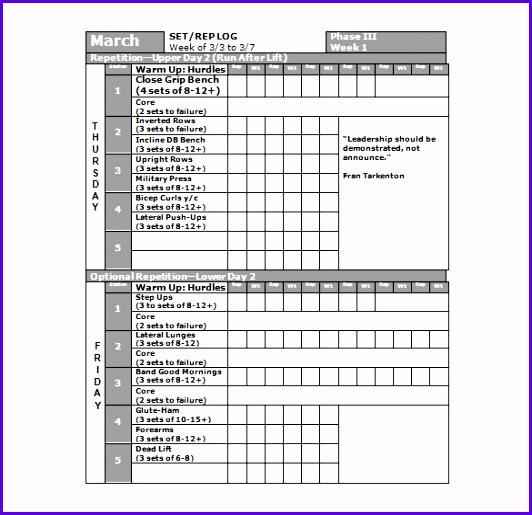 Football Workout Schedule Strength Program 532515