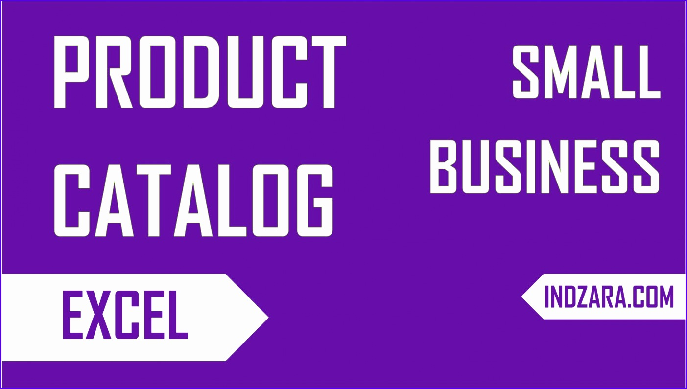 Create your own Small Business Product Catalog Free Excel Template Tour 1403795