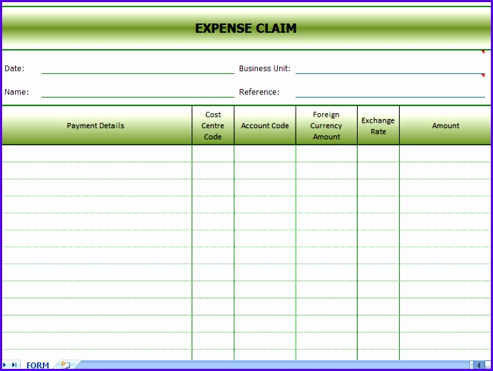 expense form excel 692521