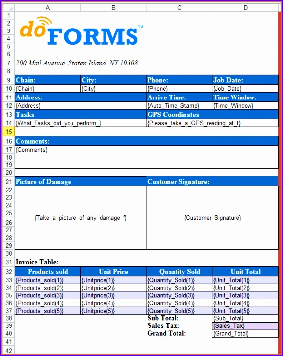 Excel Templates for custom formatting of form data 574723