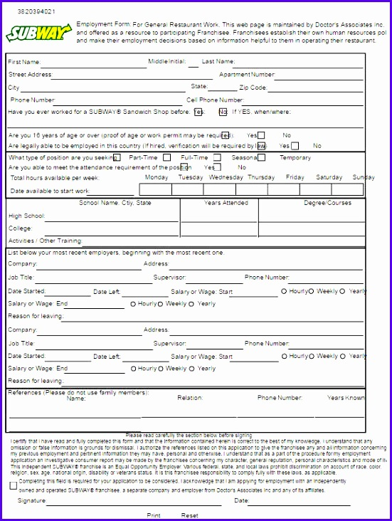 4 Job Application Excel Form Templates