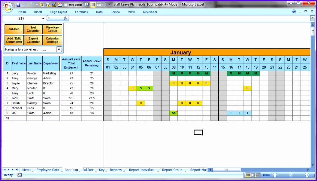 excel vacation calendar 1054602