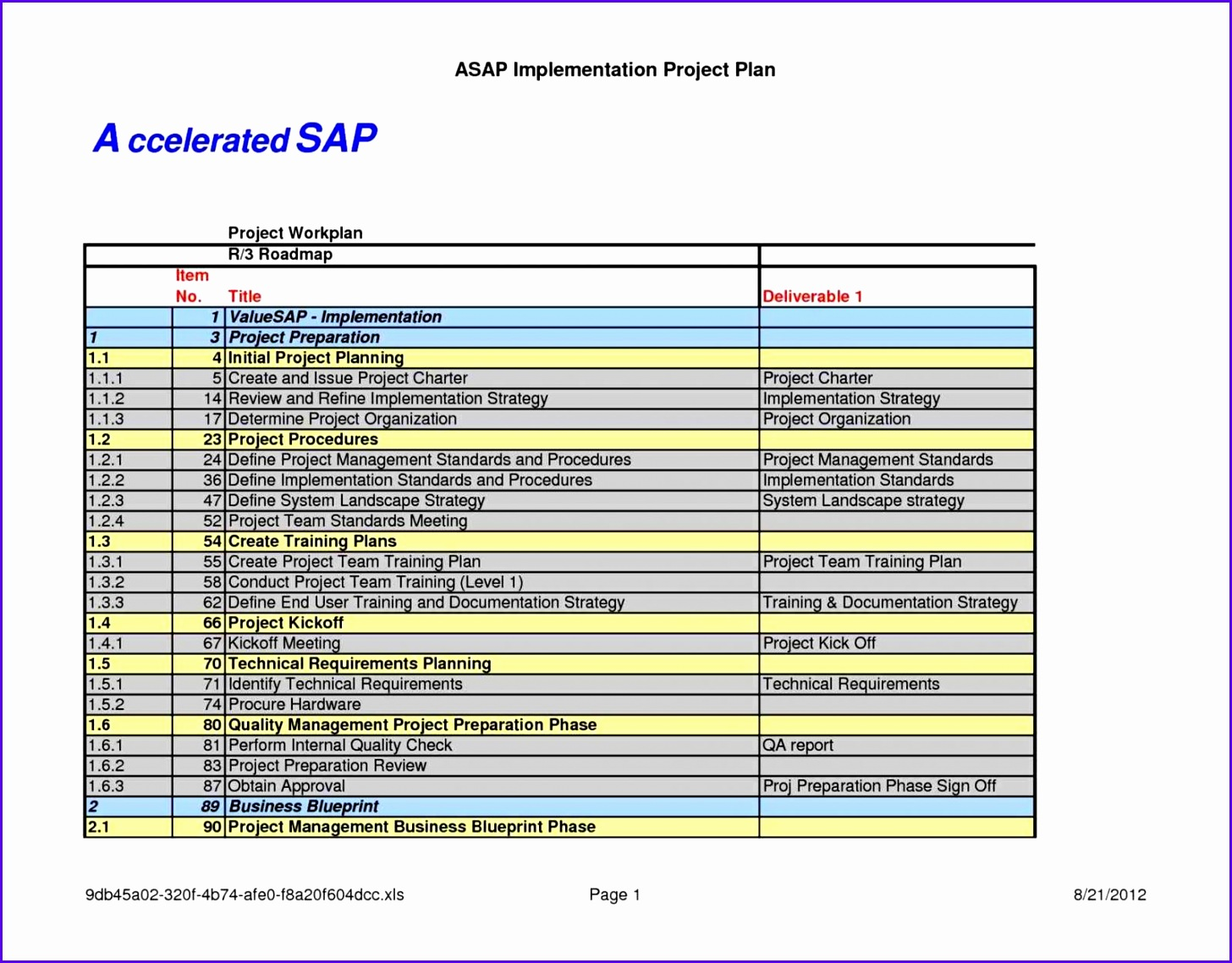 9 excel implementation plan template exceltemplates for Policy implementation plan template