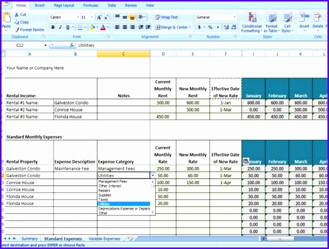 Sample Excel Template Sheet V6tnh Luxury Property Management Spreadsheet Excel Template for Tracking Rental 710532