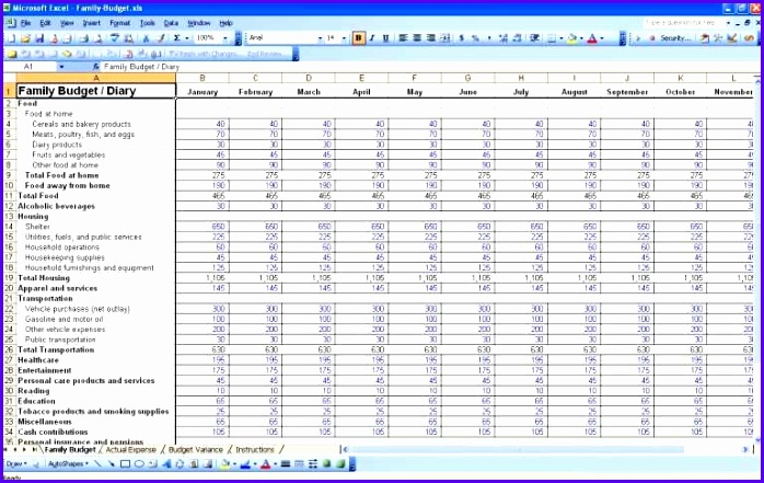 Spreadsheet Template Business Bud Template Excel Template Bud Spreadsheet Monthly Bill Spreadsheet Template Free
