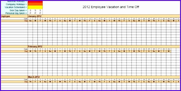 employee vacation tracker template 333 618313