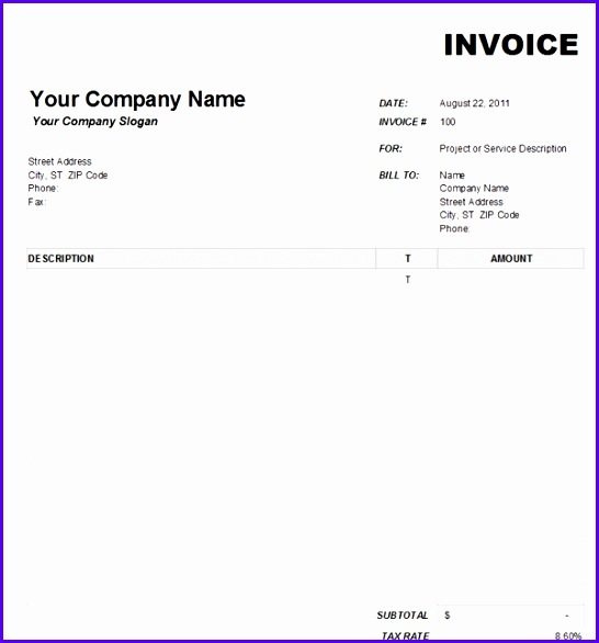 Example Free Excel Invoice Template Uk Cshur Lovely Decorating