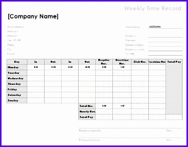 3 Weekly time sheet 8 5 x 11 landscape 375293