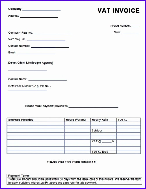 10 free invoice template uk excel